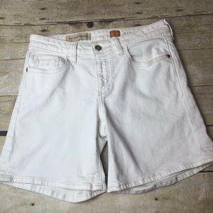Anthro Pilcro Stet White Denim Shorts D14
